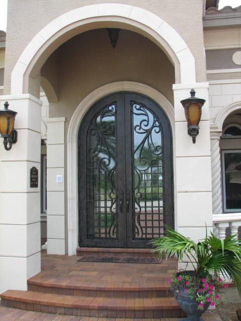 Custom iron doors and rails for Exterior doors miami